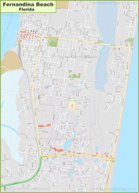 Large detailed map of Fernandina Beach