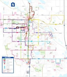 Fort Collins transport map