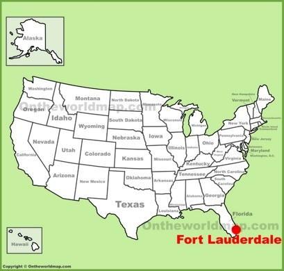 Fort Lauderdale Location Map