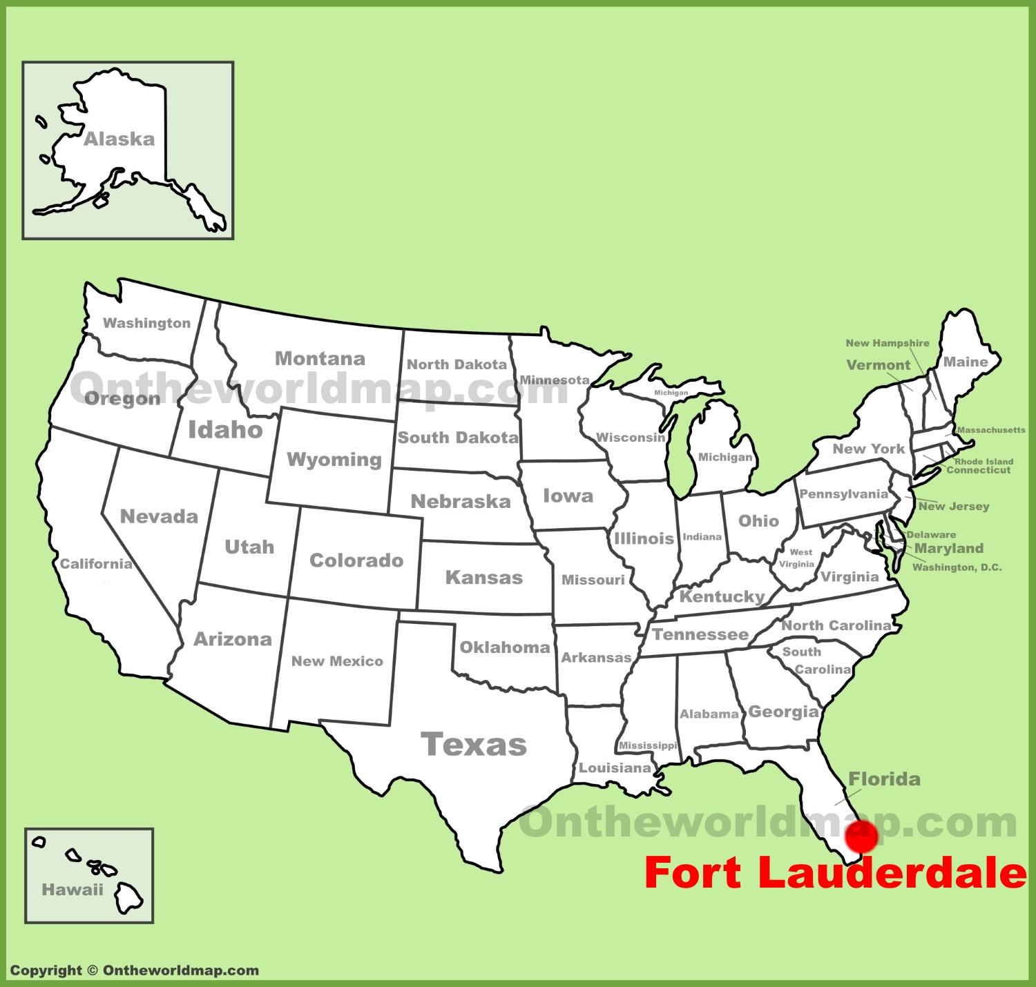 Ft Lauderdale On Map Of Florida.Fort Lauderdale Maps Florida U S Maps Of Fort Lauderdale