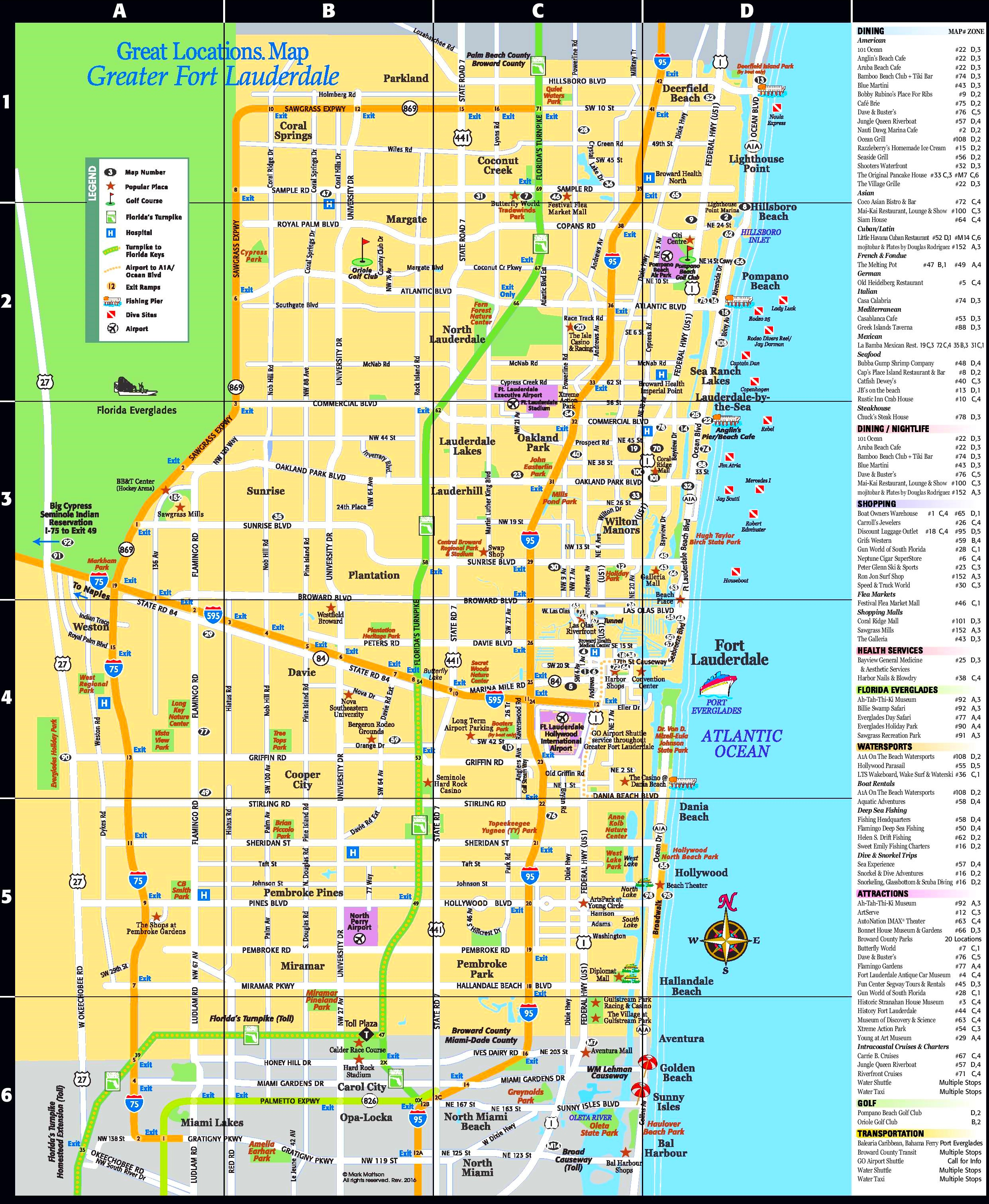 Fort Lauderdale tourist attractions map