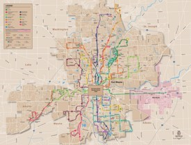 Fort Wayne bus map