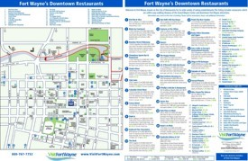 Fort Wayne restaurants map