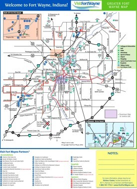 Fort Wayne tourist map