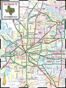Fort Worth road map