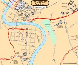 Frankfort downtown map