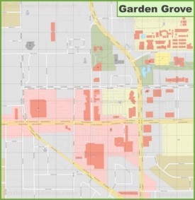 Garden Grove downtown map