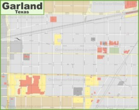 Garland Maps Texas US Maps of Garland