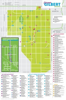 Gilbert tourist map