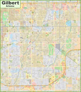 Gilbert Maps Arizona US Maps of Gilbert