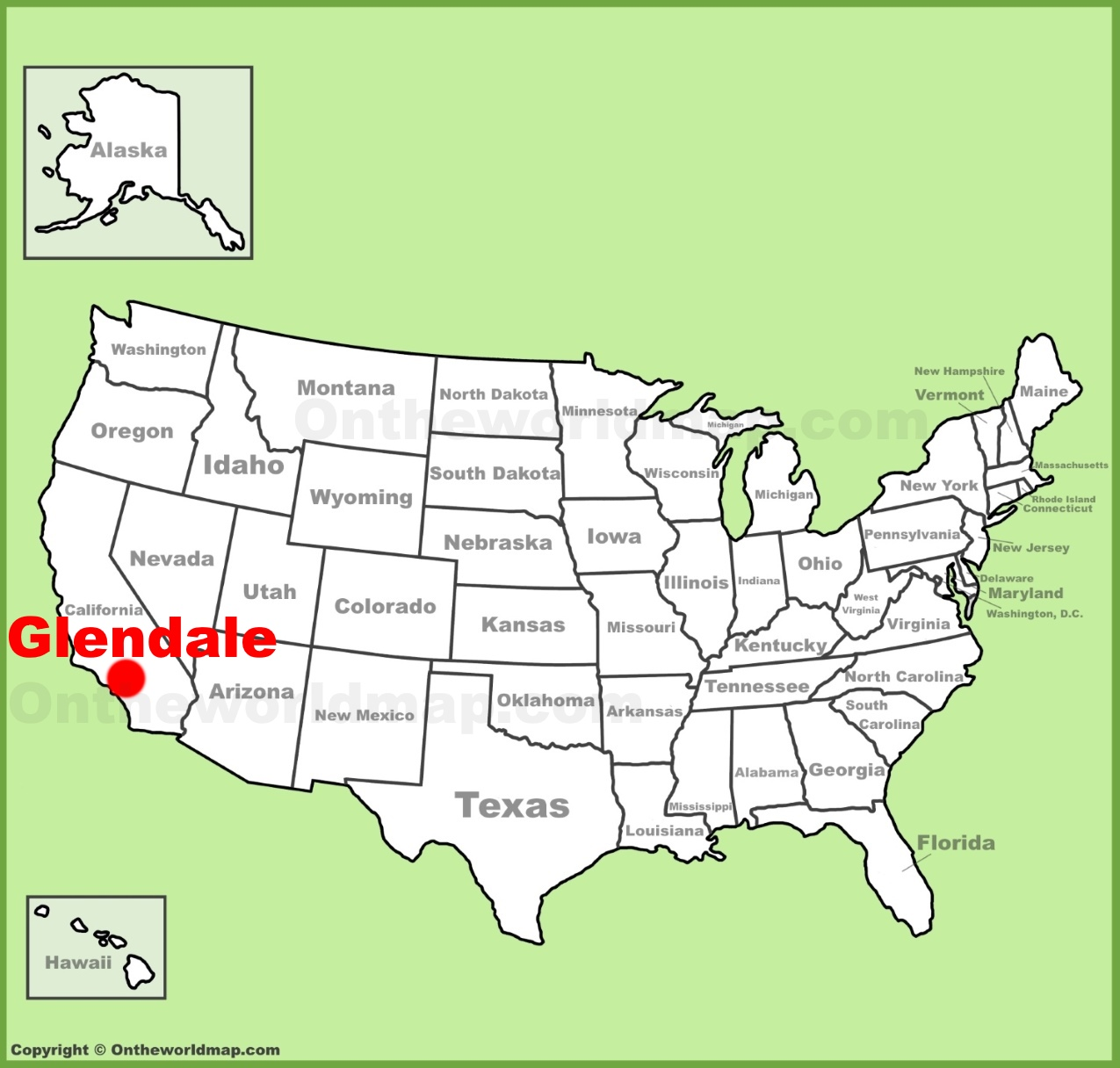 Glendale California Map Glendale (California) location on the U.S. Map