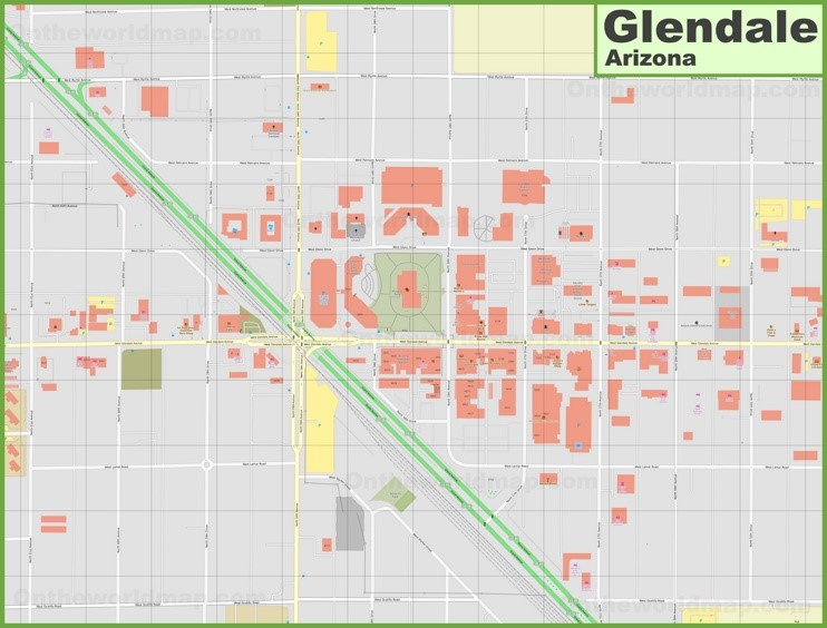 Glendale downtown map