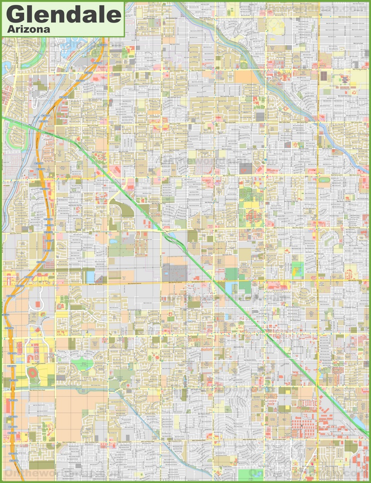 Large detailed map of Glendale