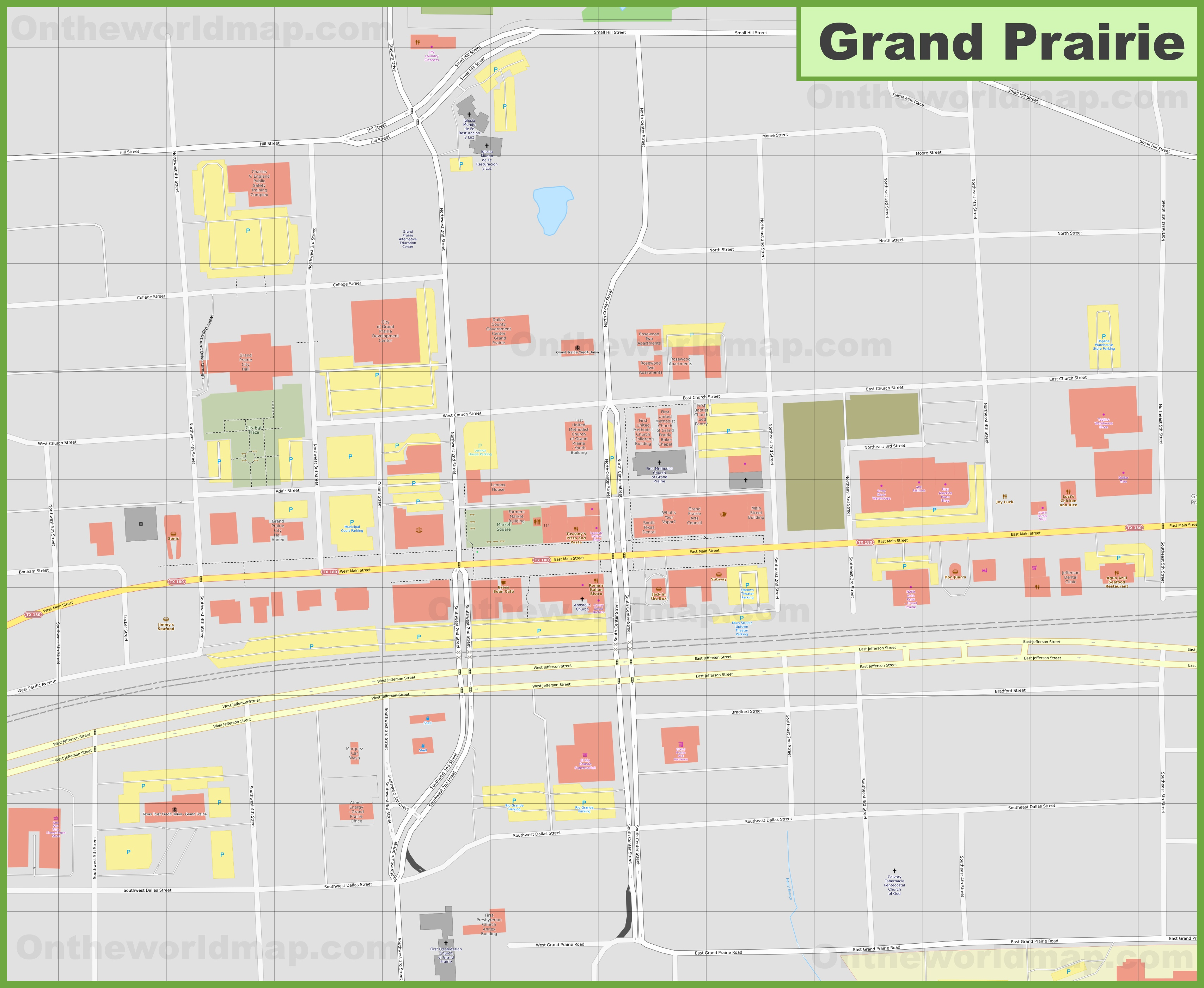Grand Prairie downtown map