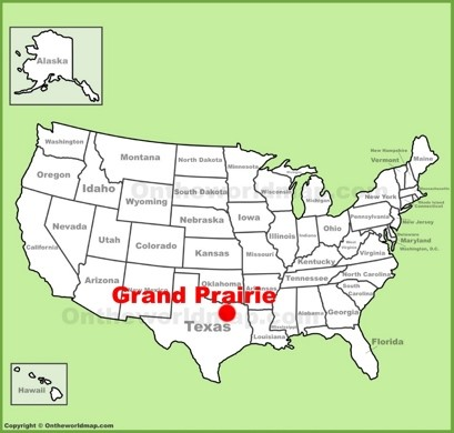 Grand Prairie Location Map