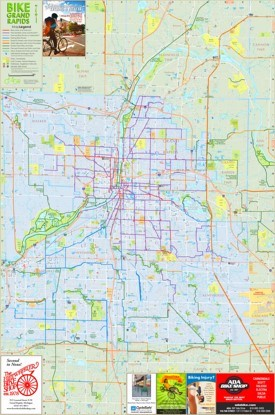 Grand Rapids bike map