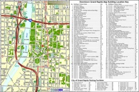 Grand Rapids downtown buildings map