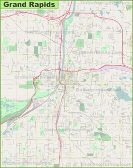Large detailed map of Grand Rapids