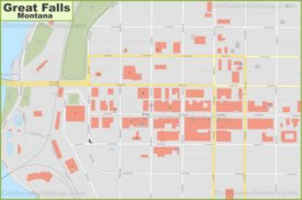 Great Falls downtown map