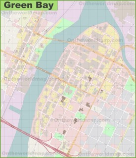 Green Bay downtown map
