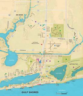 Gulf Shores Tourist Map