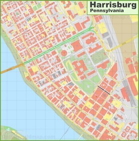 Harrisburg downtown map