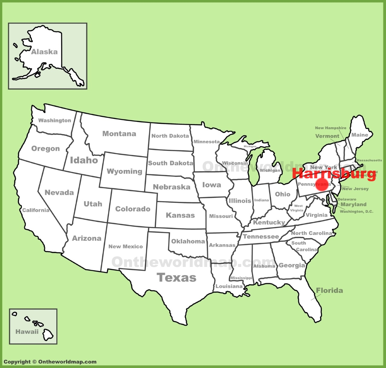 Harrisburg Maps Pennsylvania US Maps of Harrisburg