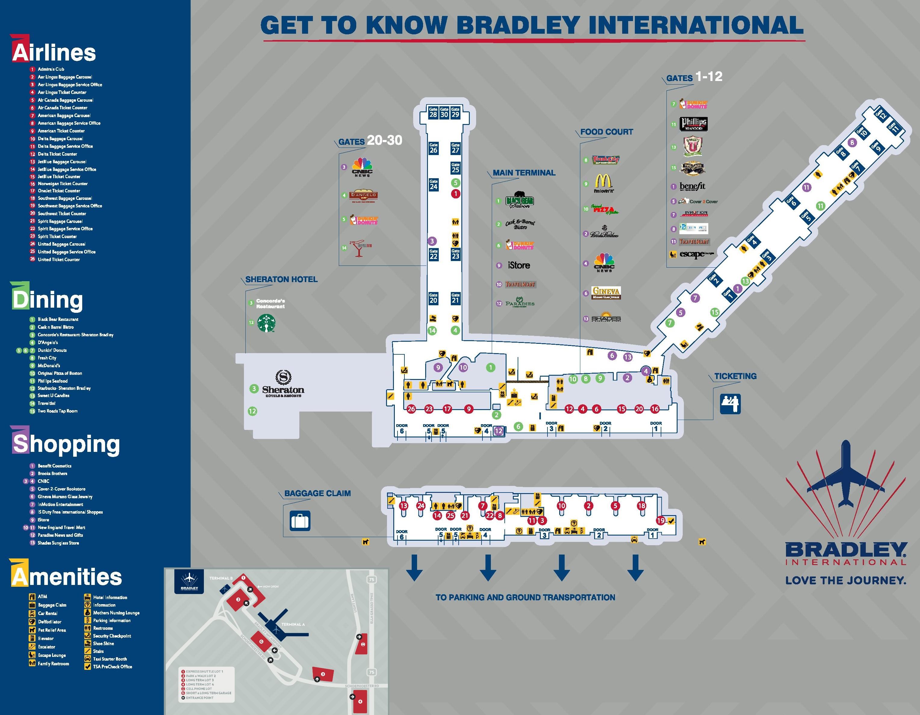 bradley international airport map