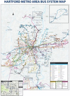Hartford bus map