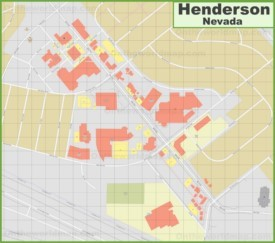 Henderson downtown map