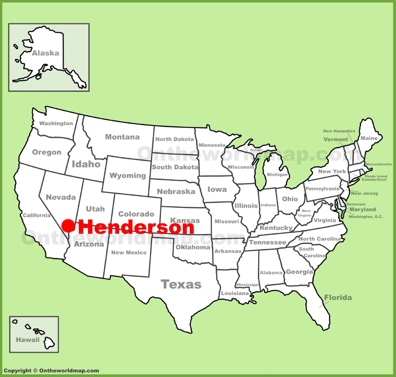Henderson Location On The U S Map