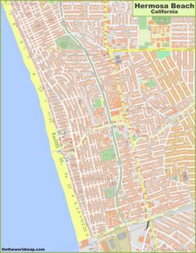Detailed Map of Hermosa Beach
