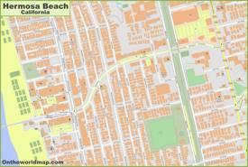 Hermosa Beach City Center Map