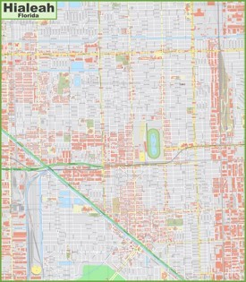 Large detailed map of Hialeah