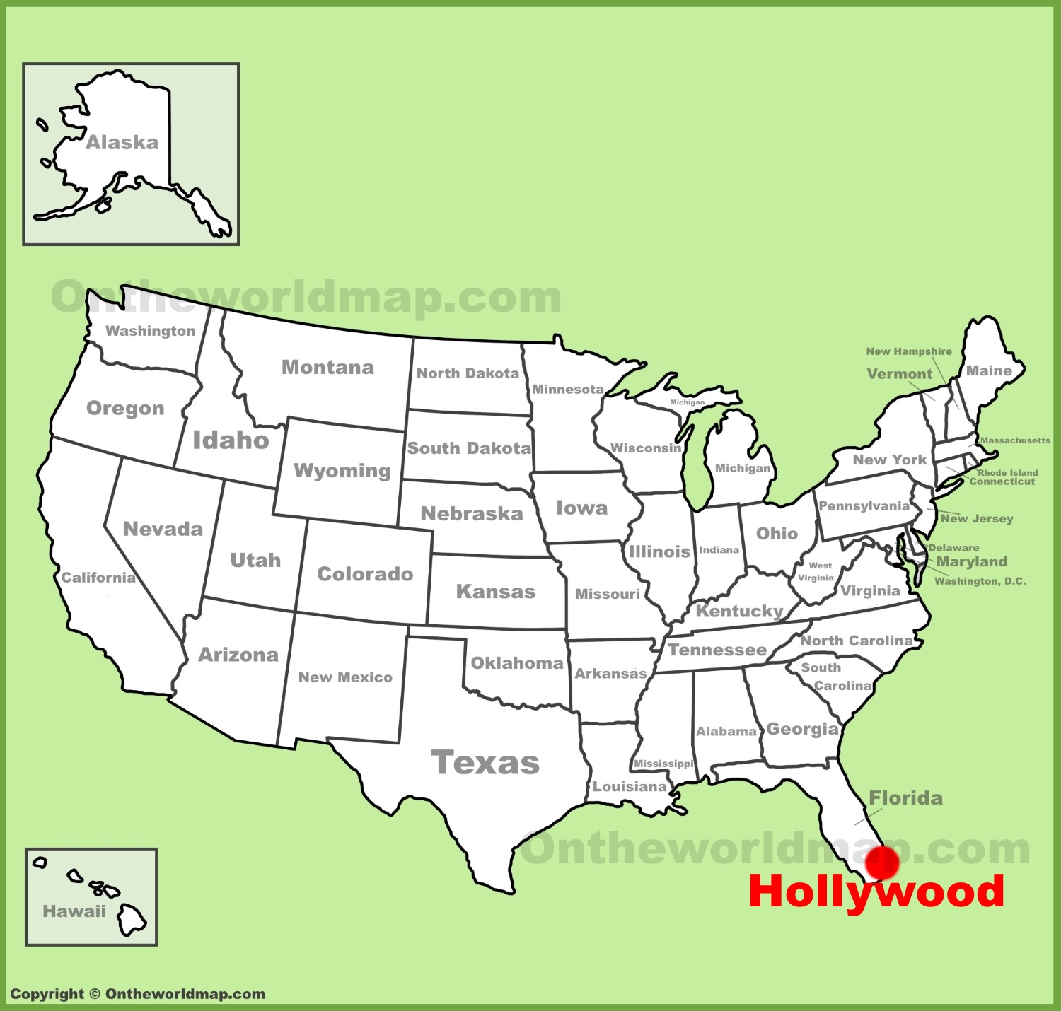 Hollywood Maps Florida US Maps of Hollywood