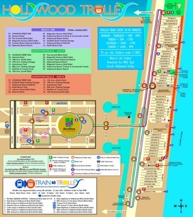 Hollywood (Florida) tourist map