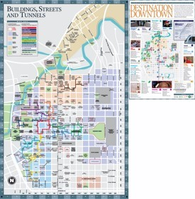 Houston downtown hotels and sightseeings map