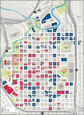 Houston downtown parking map