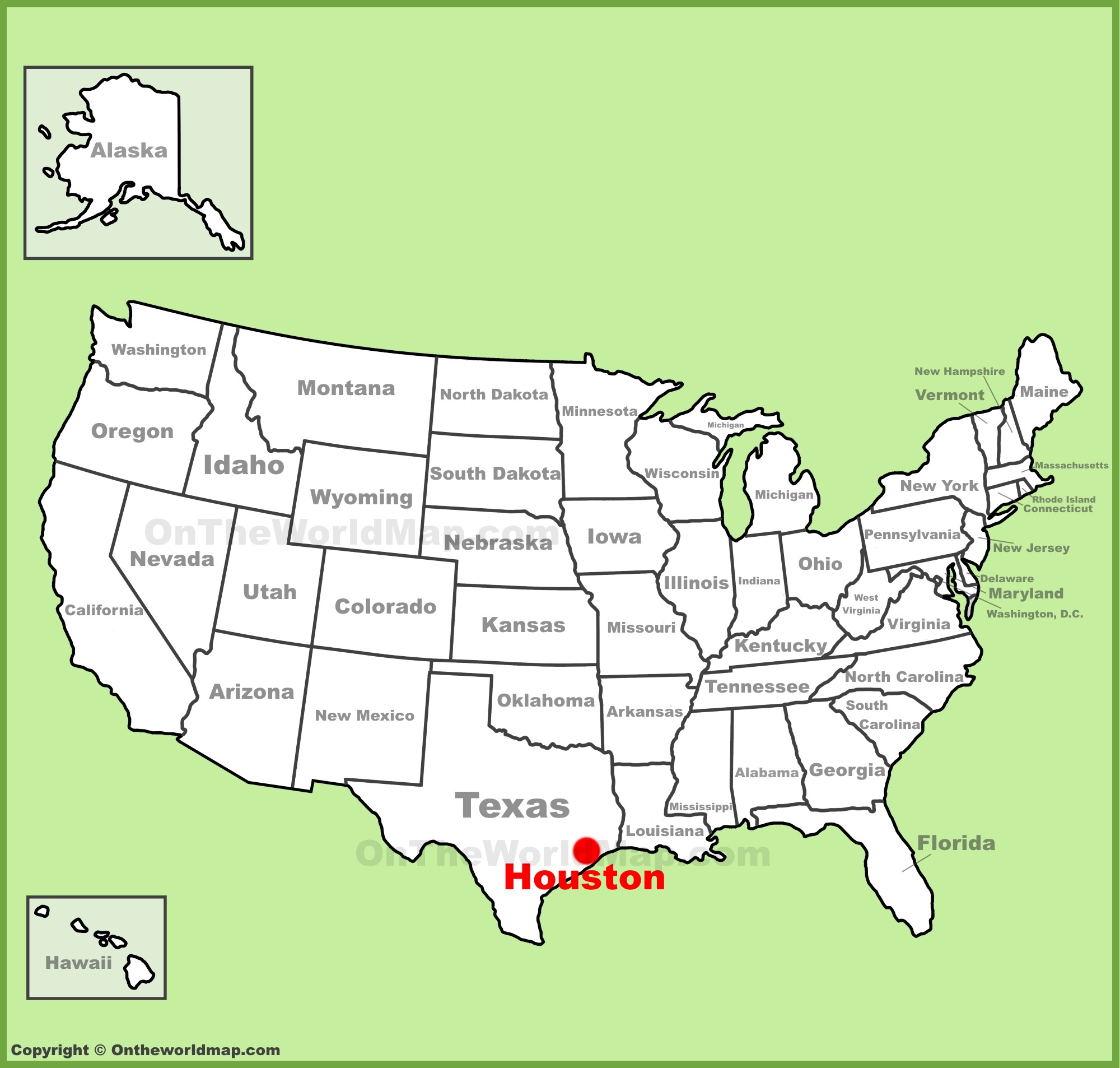 Houston On Map Houston location on the U.S. Map Houston On Map