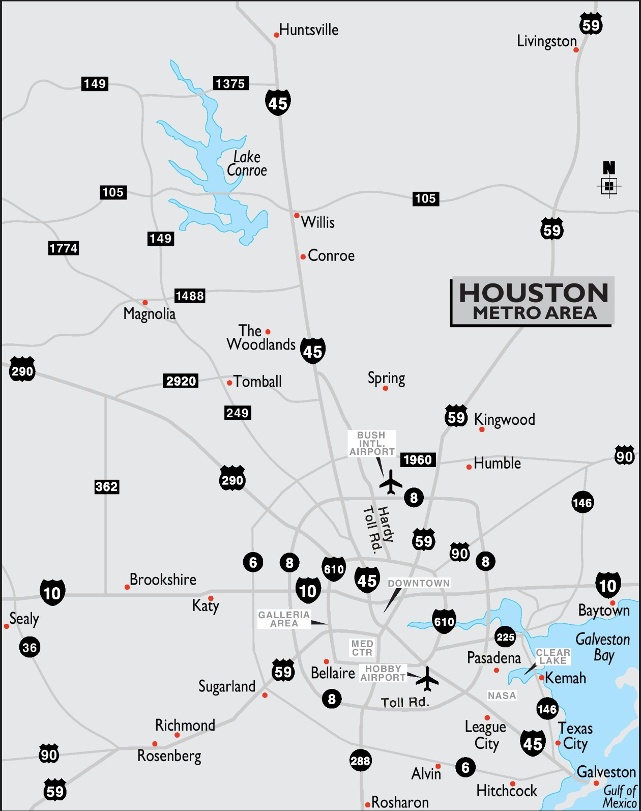 Houston Metro Area Map - Houston metro area map