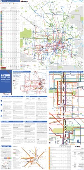 Houston public transport map