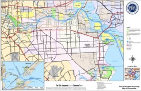 Port of Houston map