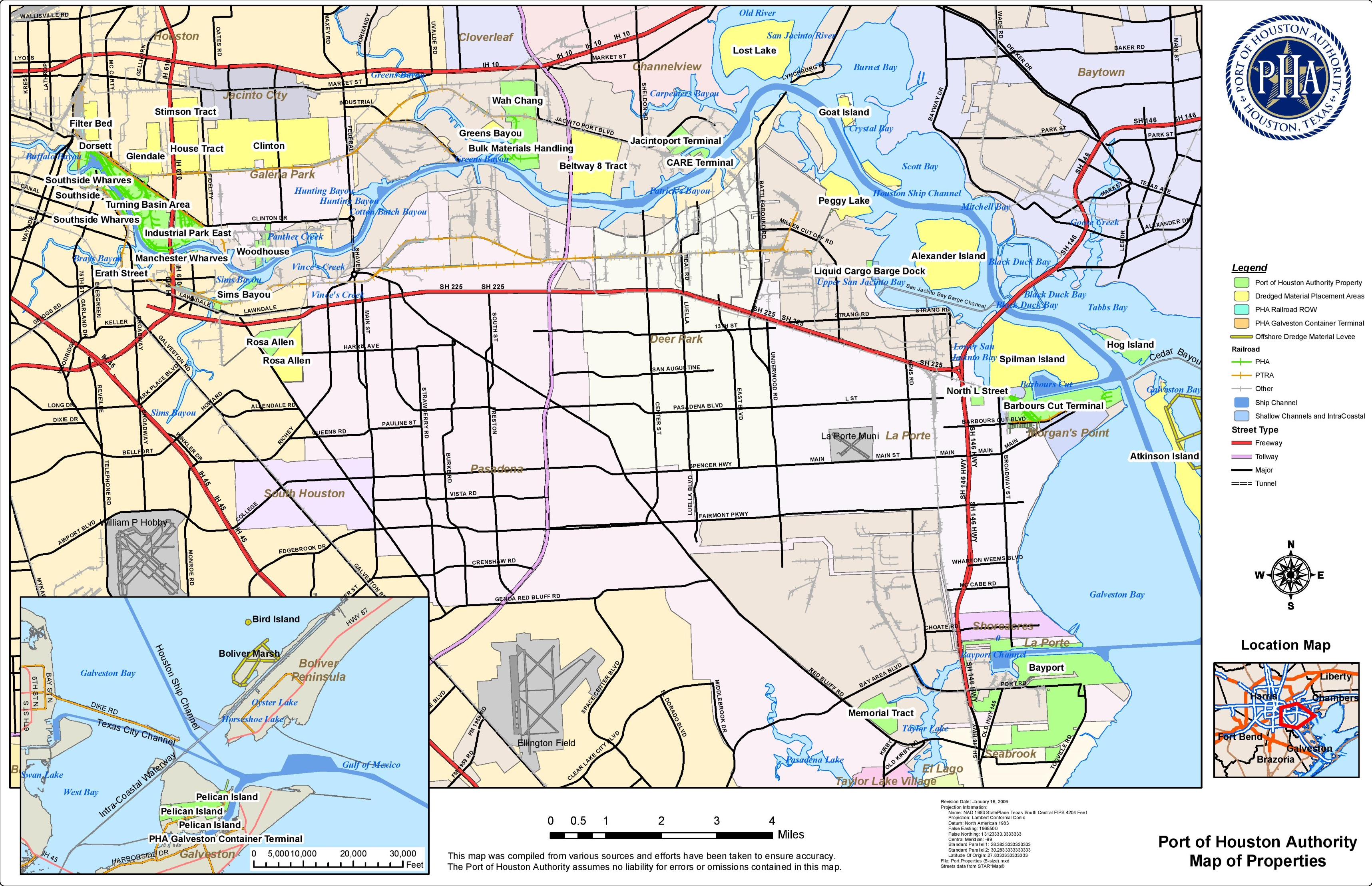 Port Of Houston Map - Printable map of houston