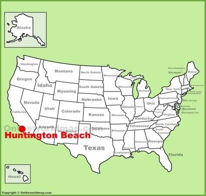 Huntington Beach Location Map