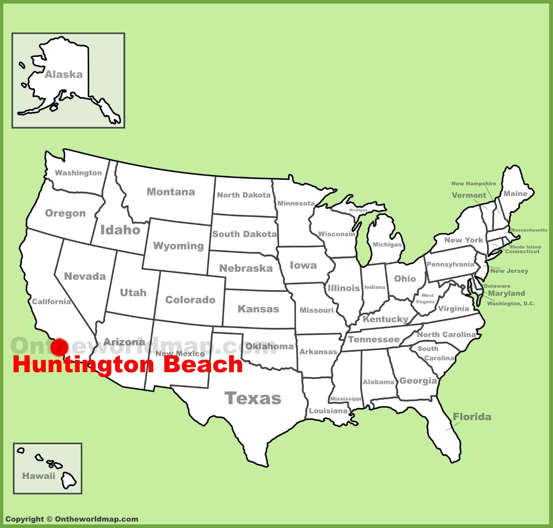 Huntington Beach Map Huntington Beach location on the U.S. Map