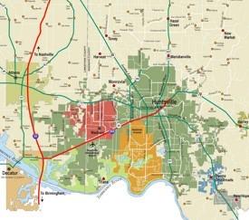 Huntsville area map