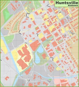 Huntsville downtown map