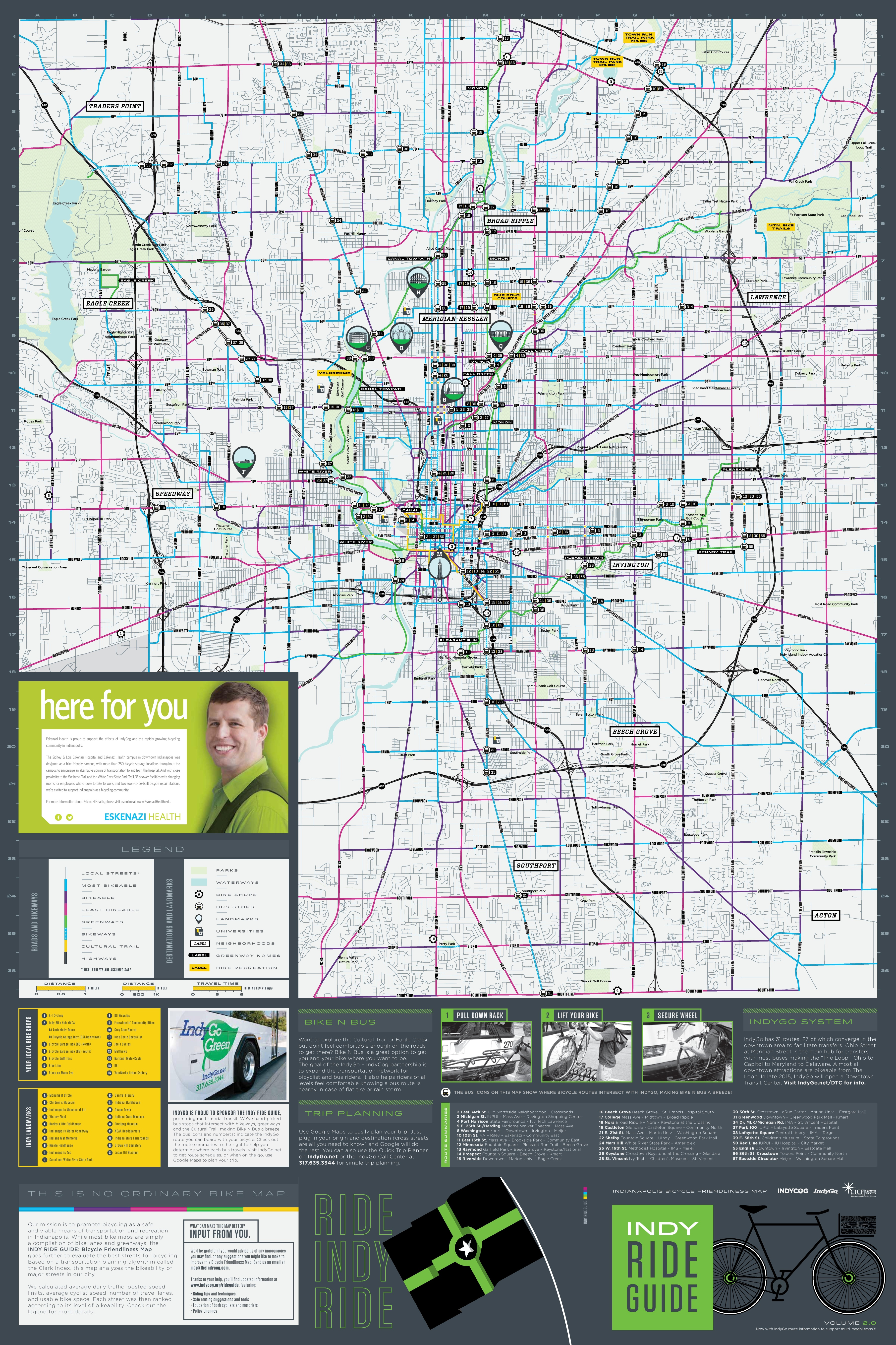Indianapolis ride map