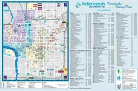 Indianapolis tourist attractions map