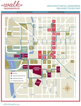 Indianapolis walk map